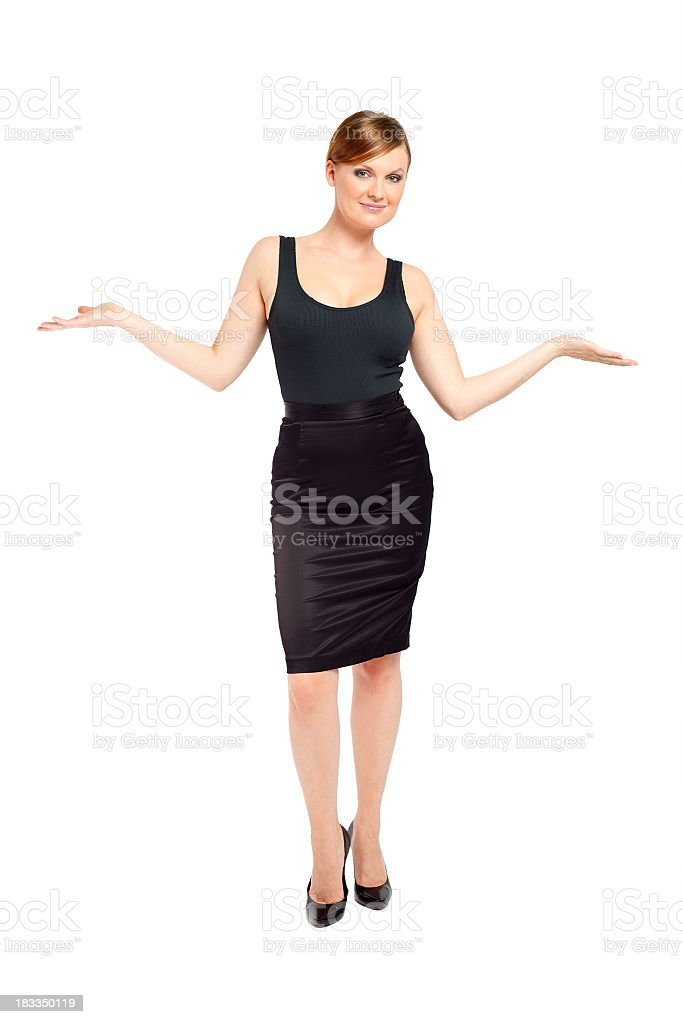 Standing woman royalty-free stock photo