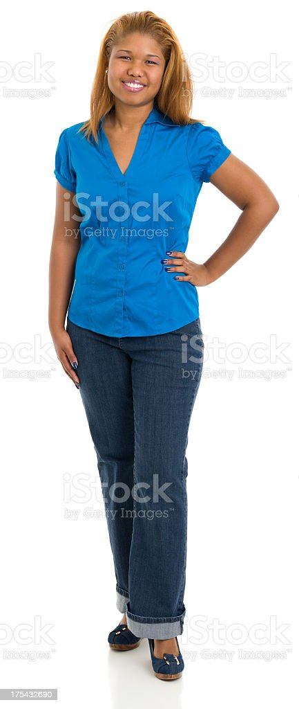 Standing Young Woman Portrait stock photo