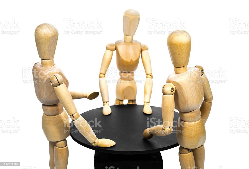 Stand-up meeting stock photo