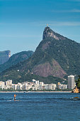 Stand-up paddle and Christ the Redeemer