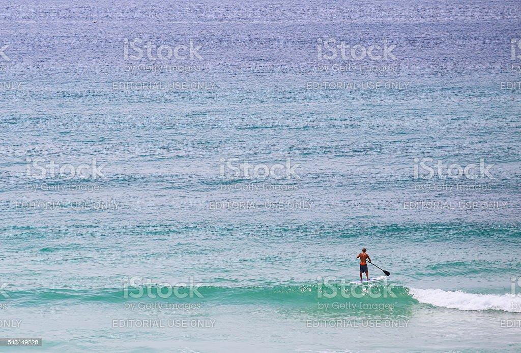 Standup Paddleboarding in Pensacola Beach stock photo