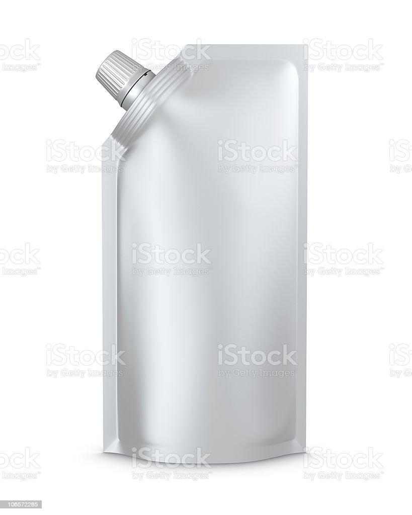 stand-up spout pouch, doypack with cap royalty-free stock photo