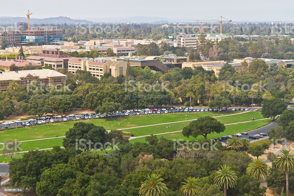 Stanford campus at Palo Alto stock photo
