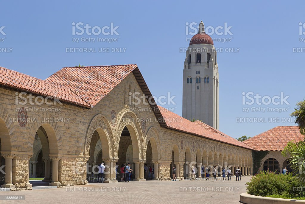 Stanford Courtyard stock photo