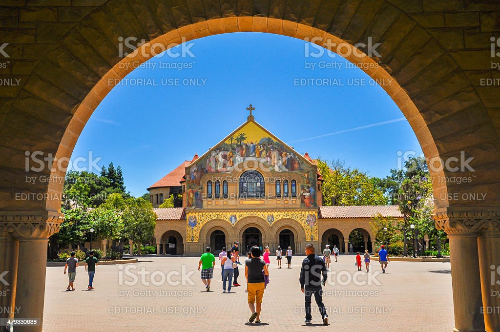 Stanford Memorial Church, Stanford University stock photo