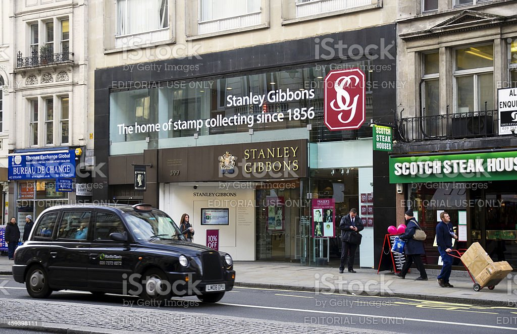 Stanley Gibbons in The Strand, London stock photo