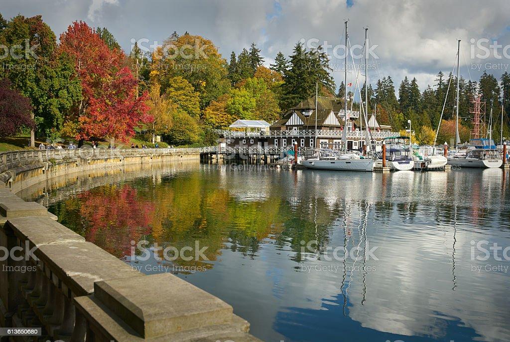 Stanley Park Autumn, Vancouver stock photo