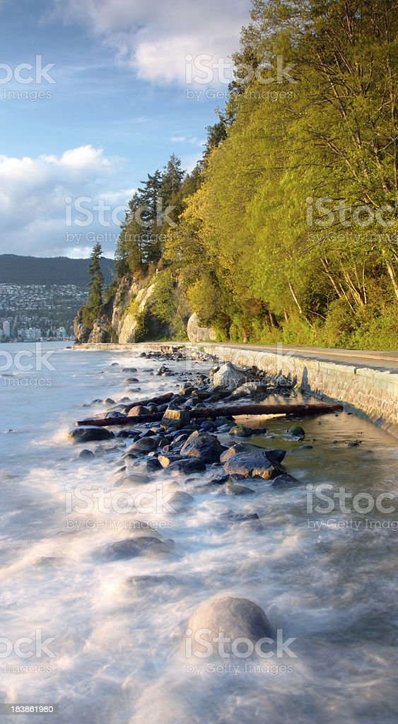 Stanley Park Sea Wall royalty-free stock photo