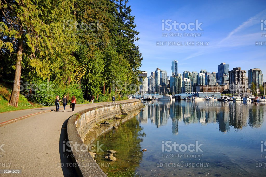 Stanley Park Seawall Path stock photo