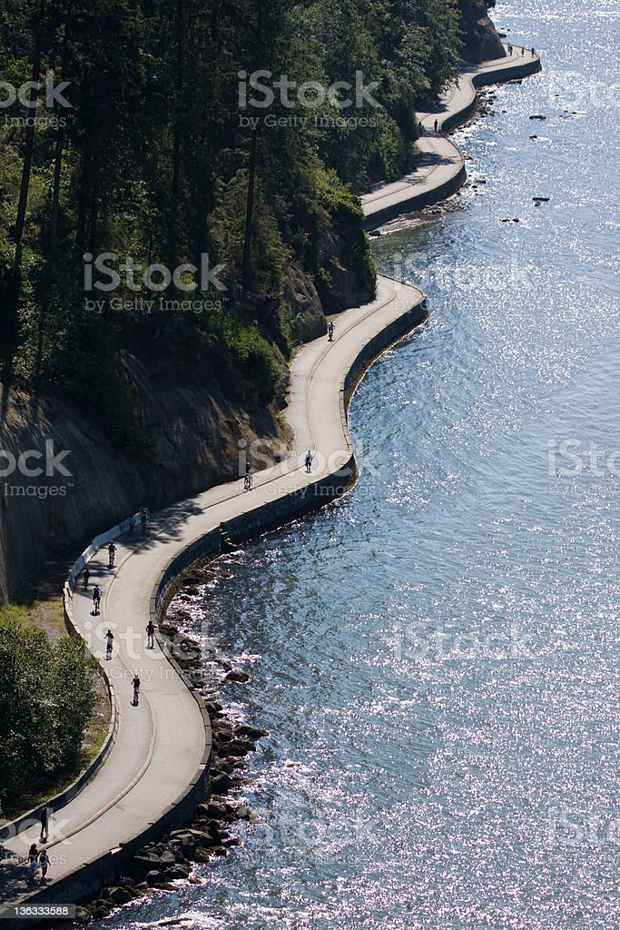 Stanley Park Seawall stock photo