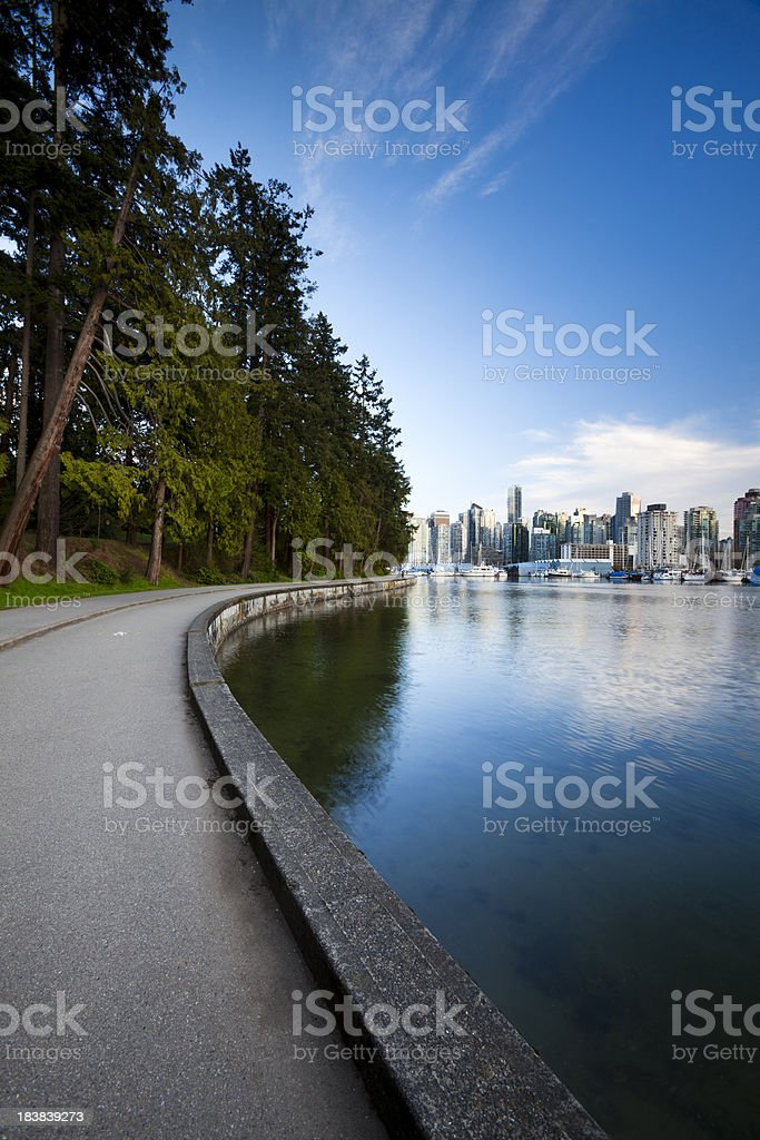 Stanley Park Seawall  Vancouver, BC stock photo