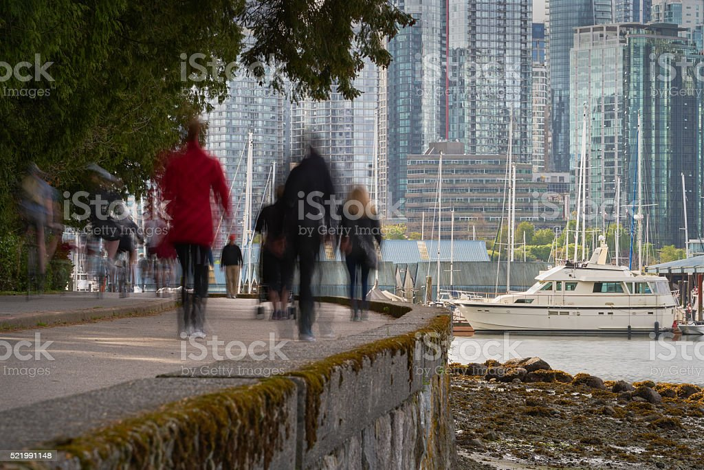 Stanley Park Seawall, Vancouver stock photo