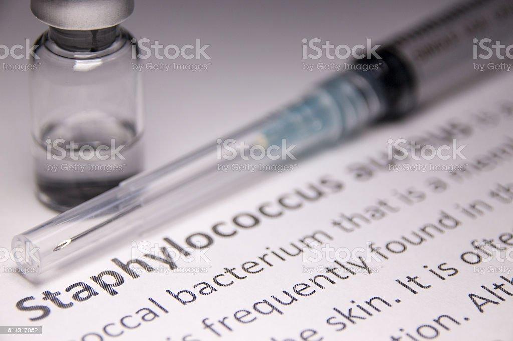 Staphylococcus aureus stock photo