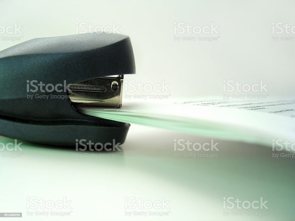 Stapled 2 royalty-free stock photo