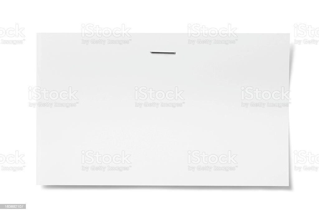 Stapled card stock photo