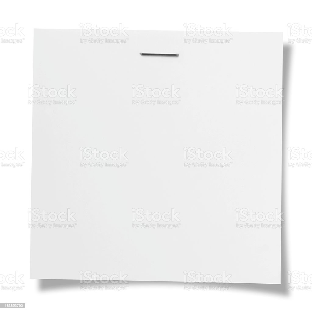 Stapled note royalty-free stock photo