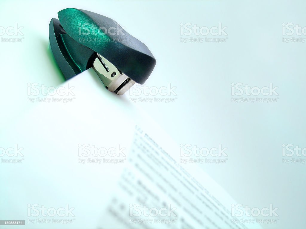 Stapled royalty-free stock photo