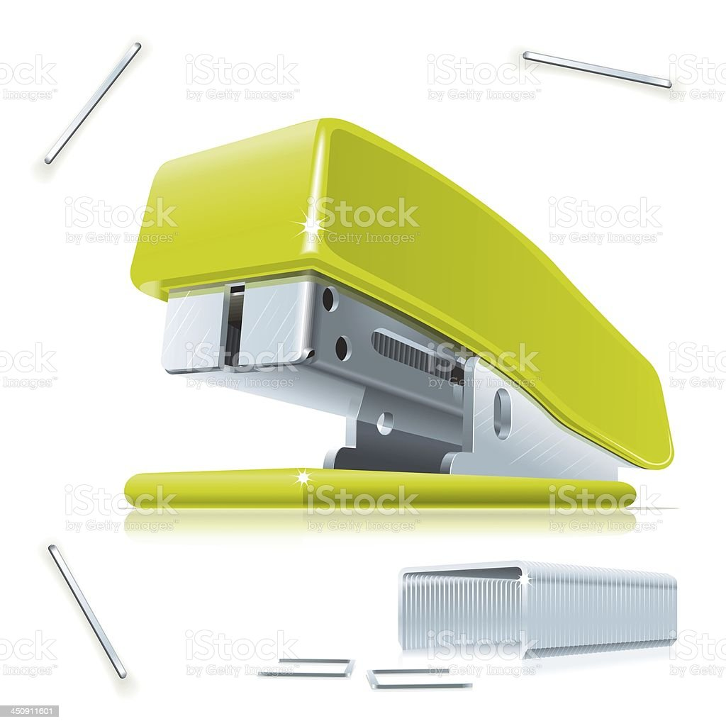 Stapler and staples stock photo