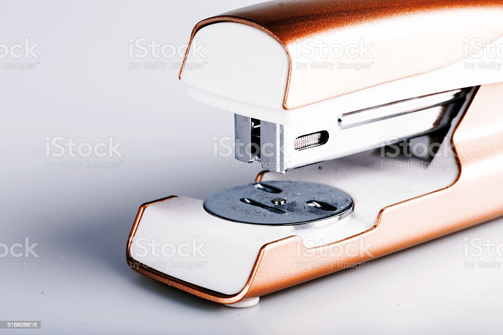 stapler isolated on white stock photo
