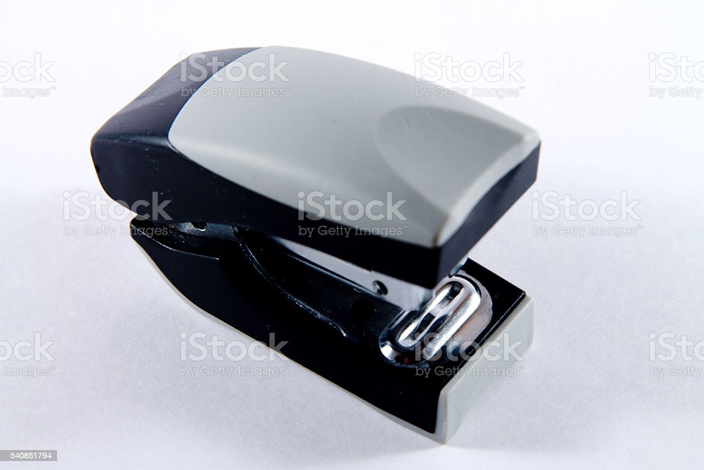 Stapler on a white background stock photo