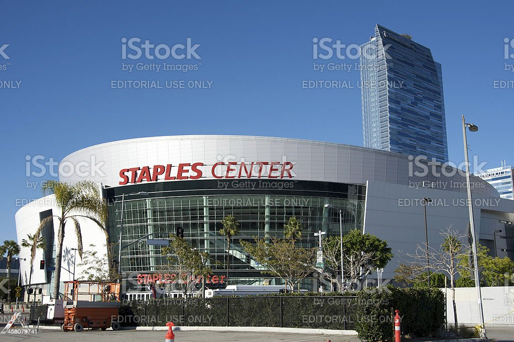 Staples Center in Downtown Los Angeles royalty-free stock photo