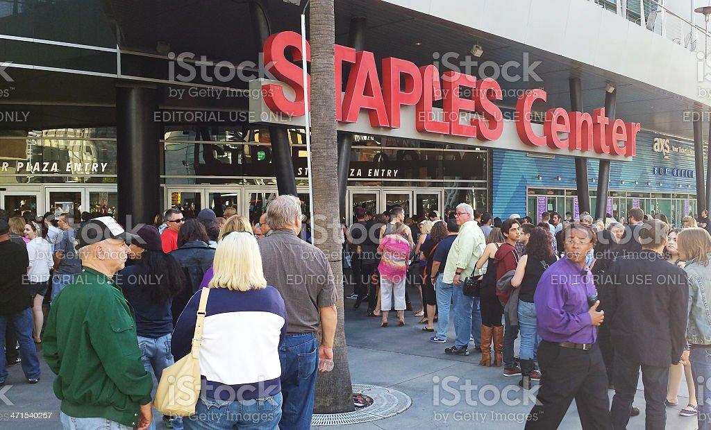 Staples Center stock photo