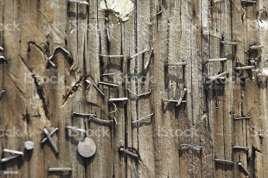 Staples in a Pole royalty-free stock photo