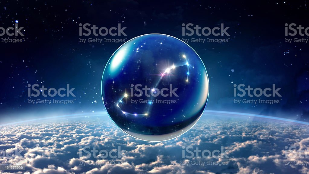 star 8 Scorpio Horoscopes Zodiac Signs space stock photo