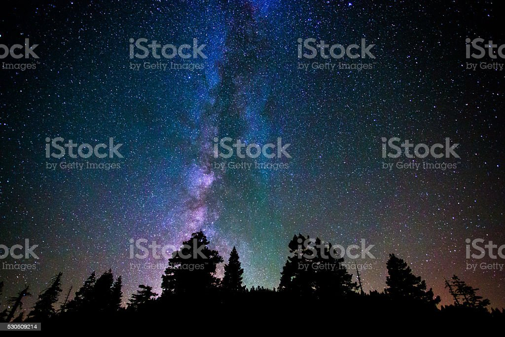 star and milkyway stock photo