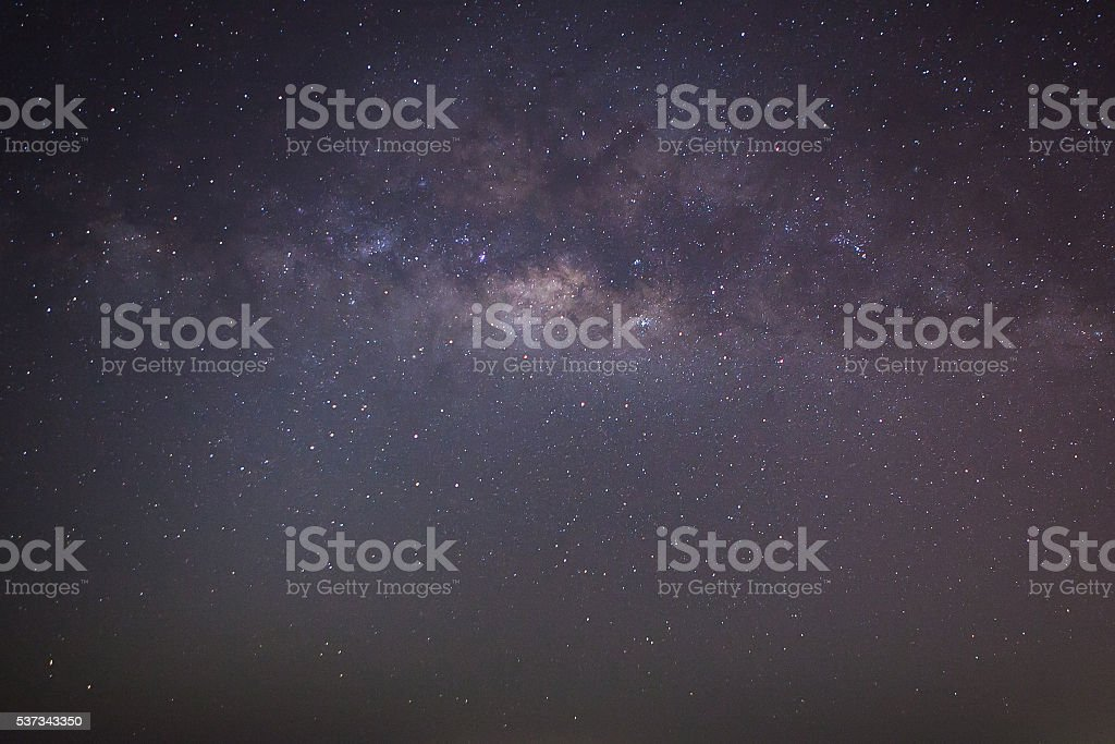 star and visible milky way stock photo