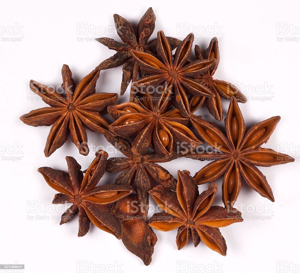Star Anise - Flavoring - Spices stock photo