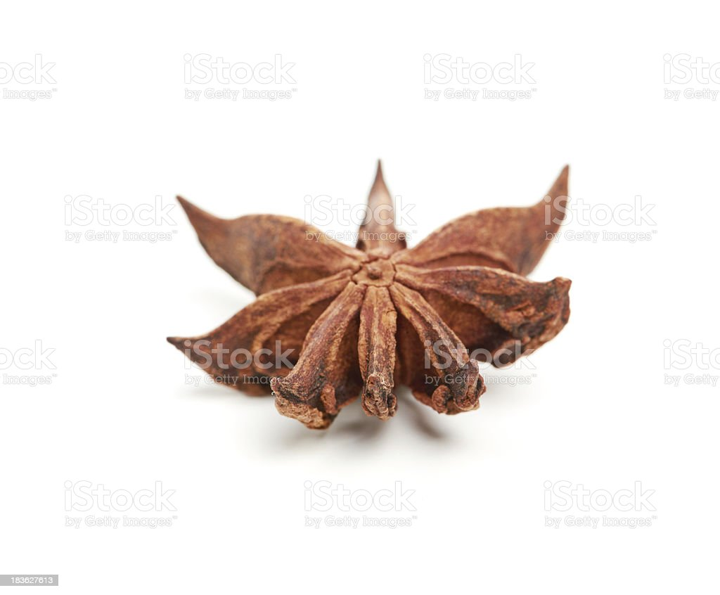 Star anise isolated on white background royalty-free stock photo
