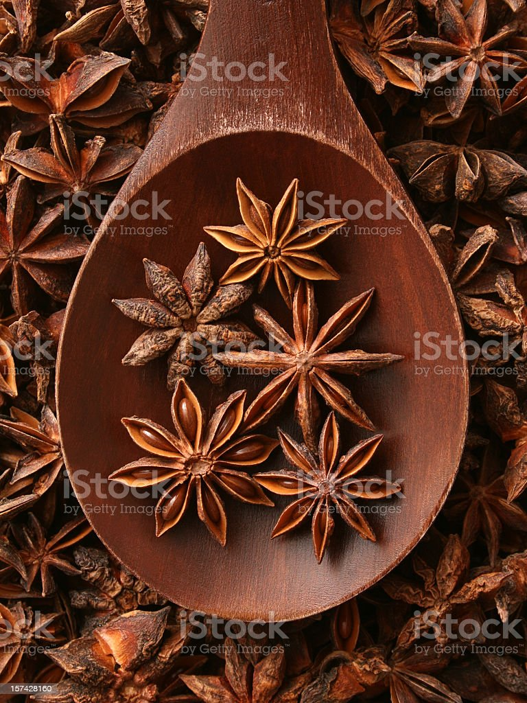 Star anise stock photo
