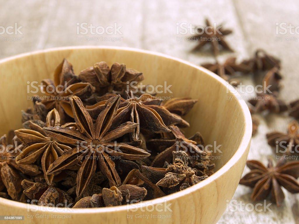 Star anise stock photo