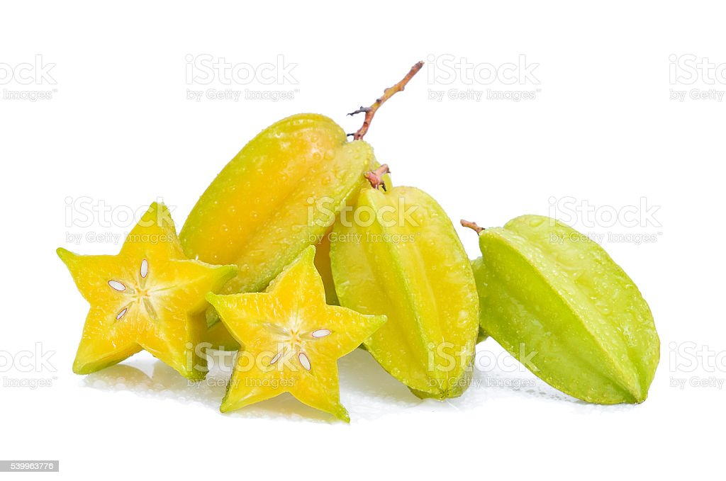 Star apple on white background stock photo