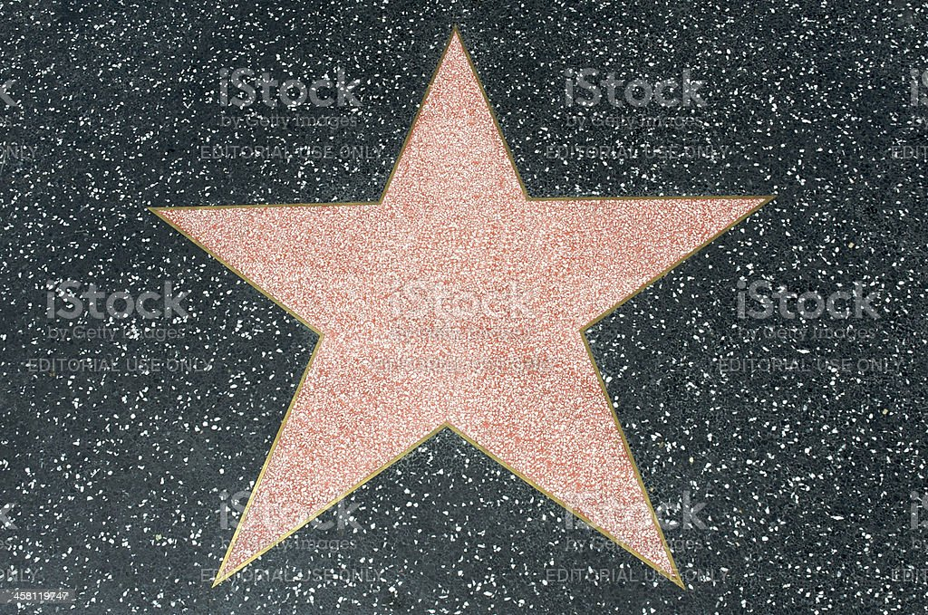 Star at Hollywood's Walk of Fame royalty-free stock photo