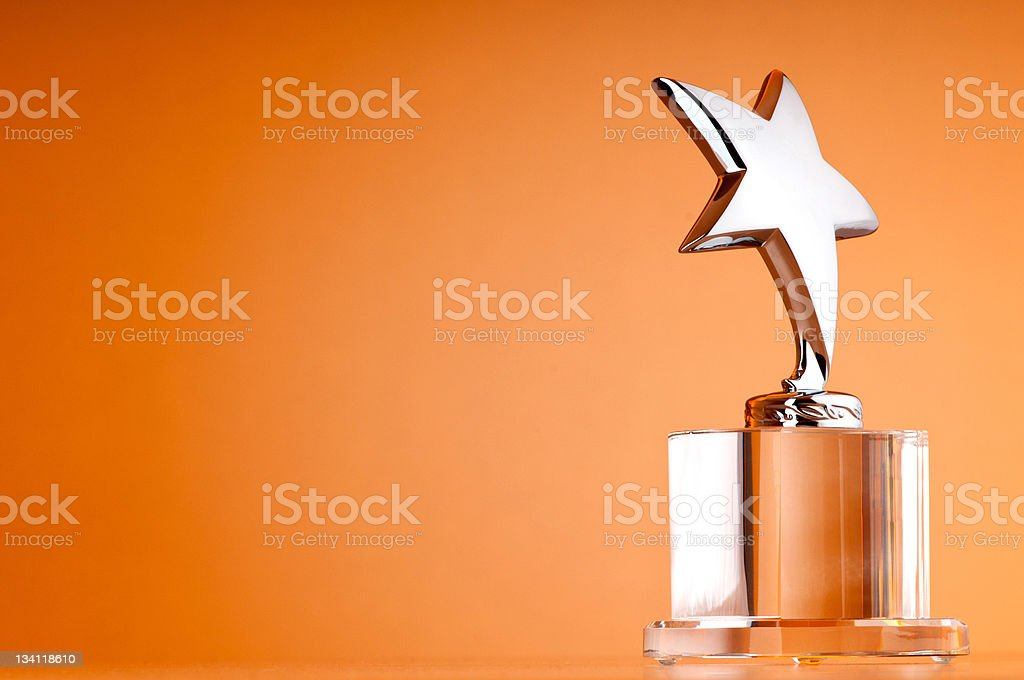 Star award against gradient background stock photo