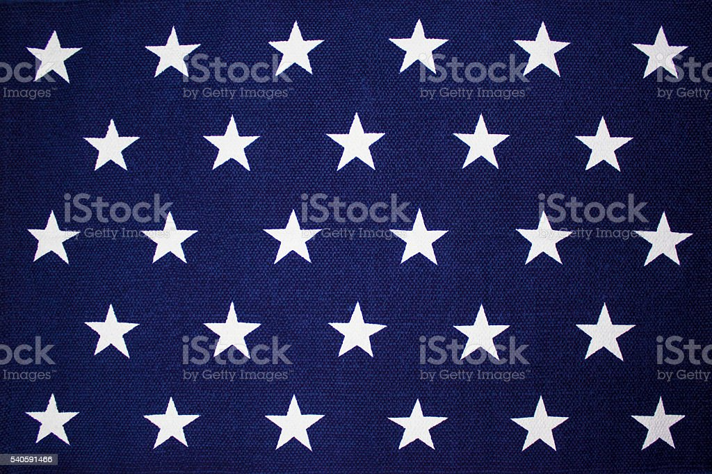Star Background on an American flag stock photo