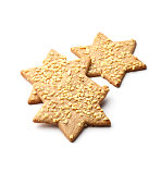 Star biscuits cookies on a white background