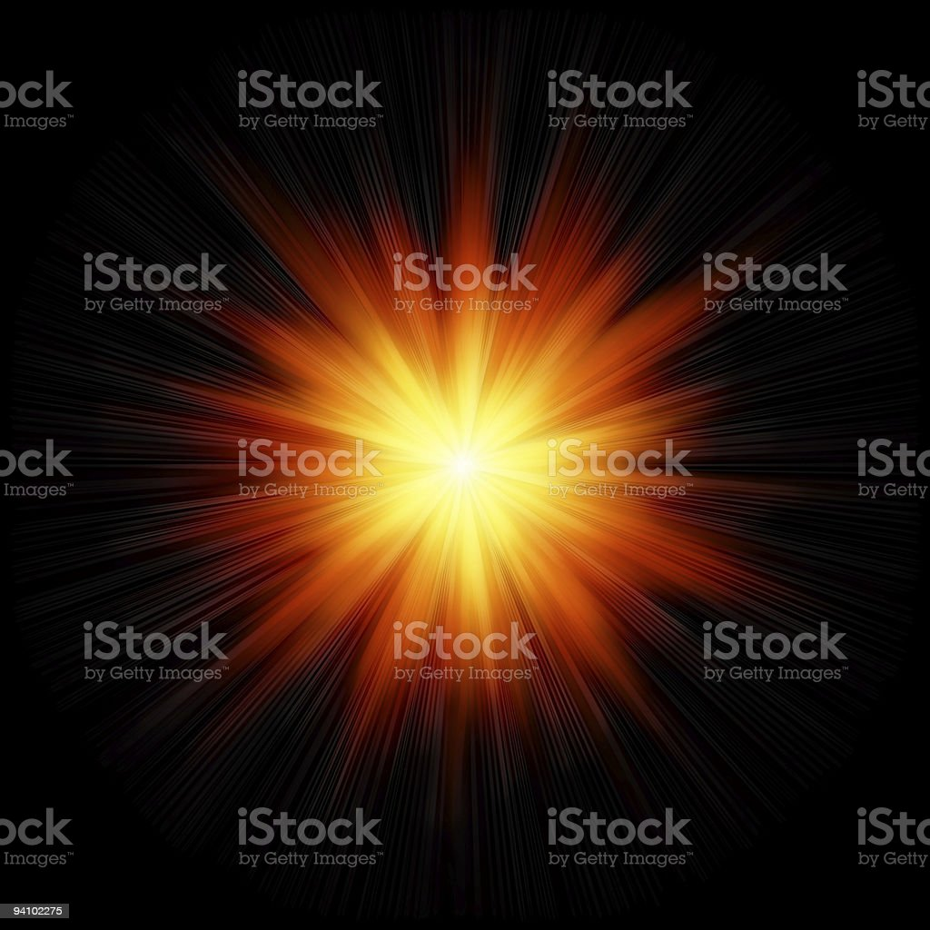 Star burst fire stock photo