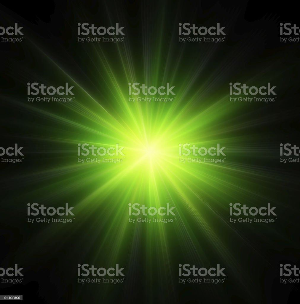Star burst green stock photo