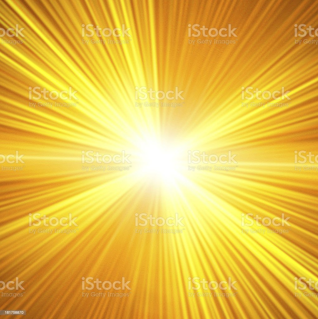 Star burst red and yellow fire royalty-free stock photo