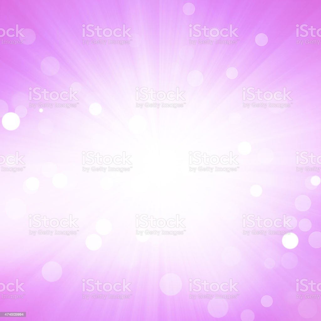 Star Burst With Bokeh Background stock photo