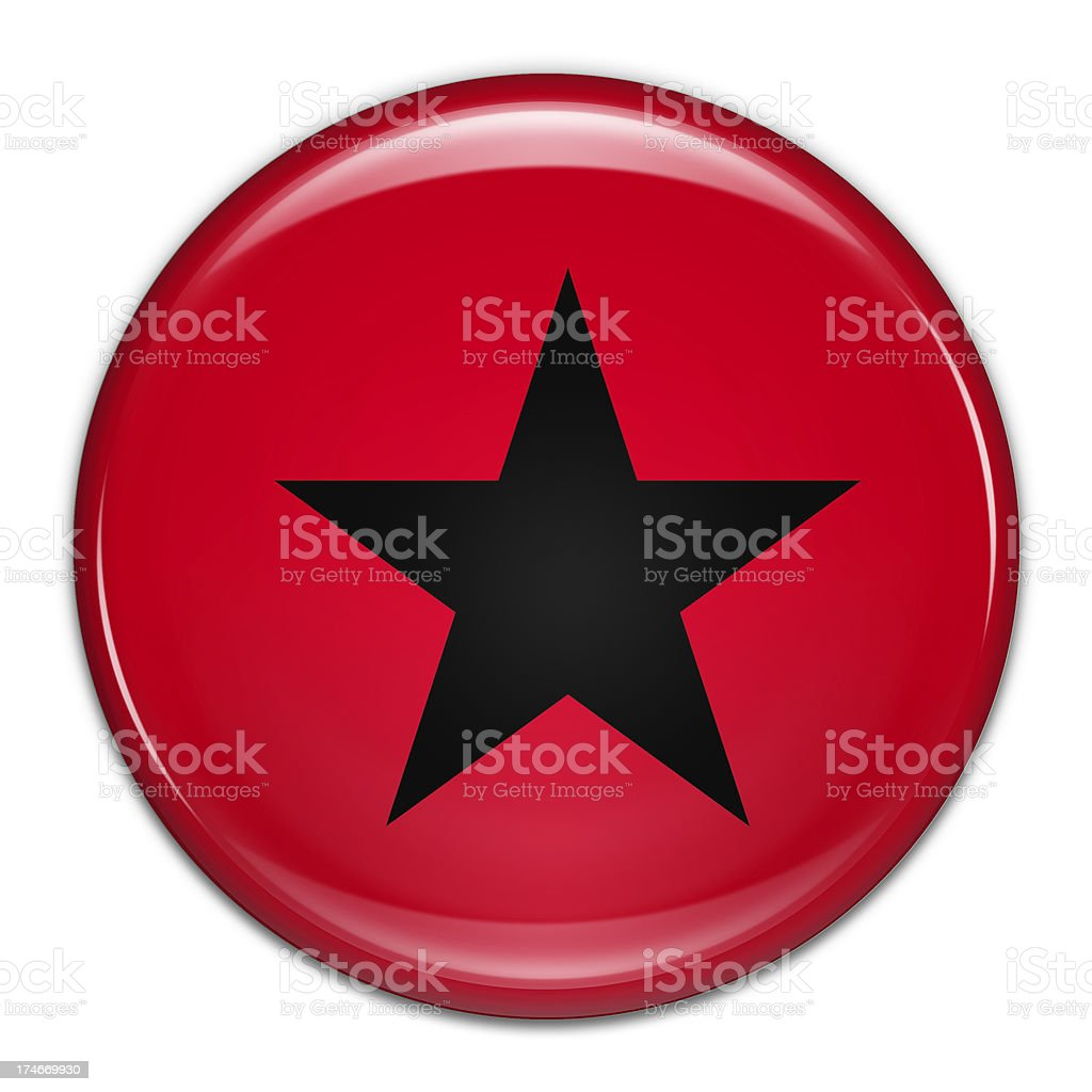 Star Button (with clipping path) royalty-free stock photo
