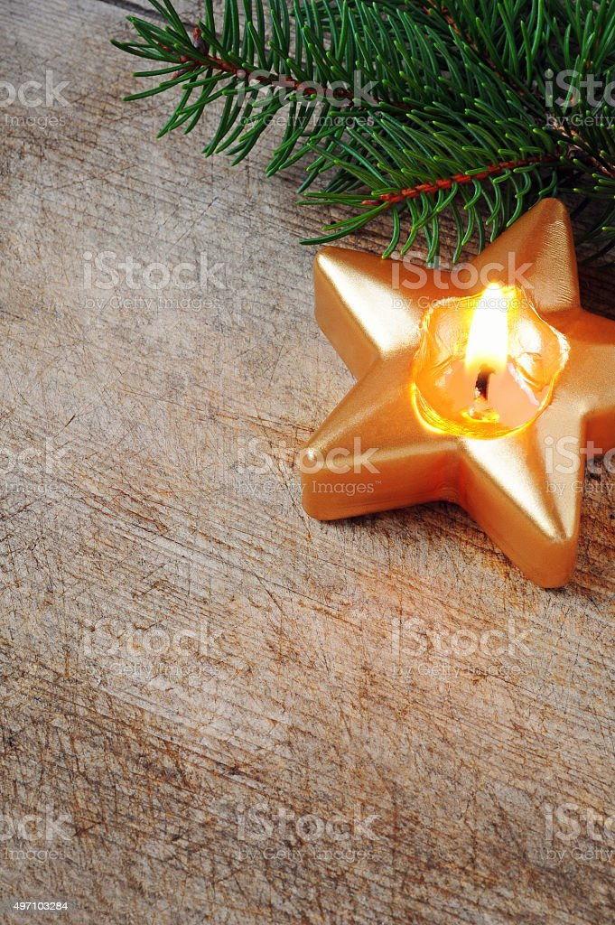 star candle stock photo