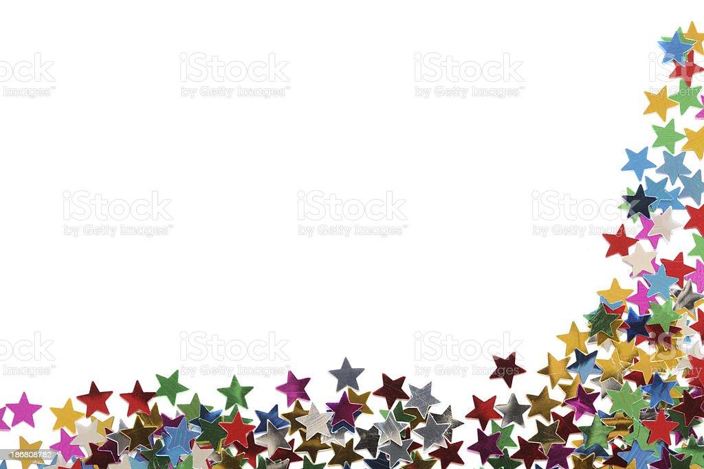 Star confetti frame royalty-free stock photo
