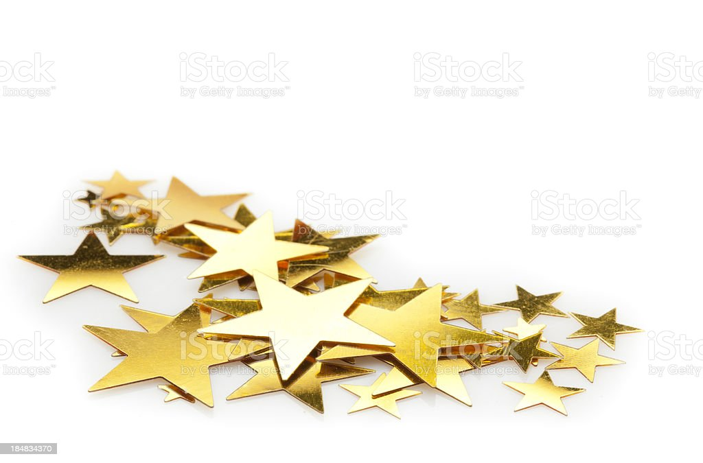 Star confetti stock photo