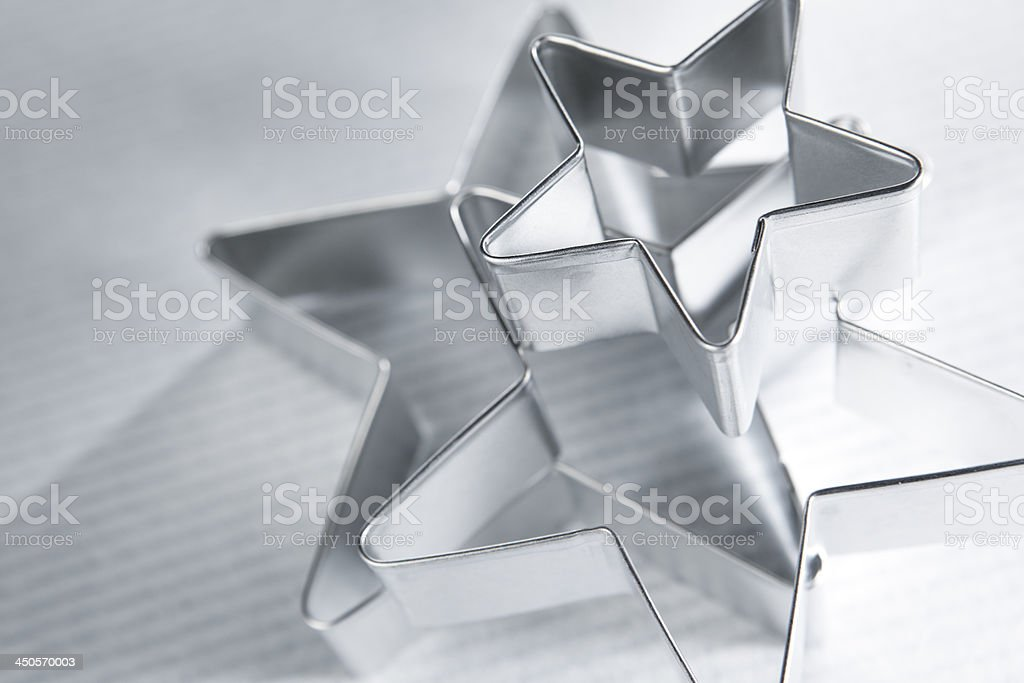 Star Cookie Cutters stock photo