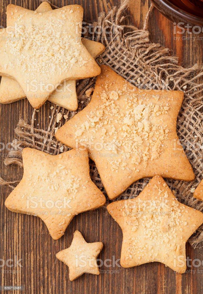 Star cookies stock photo