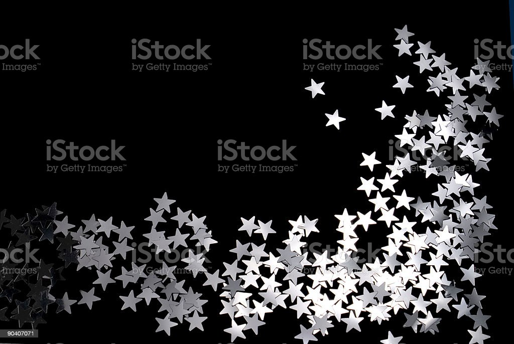 Star decoration on a black background royalty-free stock photo
